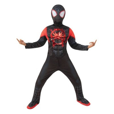 Kids' Marvel Spider-Man Miles Morales Halloween Costume Jumpsuit with Mask