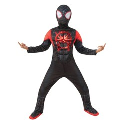 Kids' Marvel Spider-Man Miles Morales Halloween Costume Jumpsuit with Mask