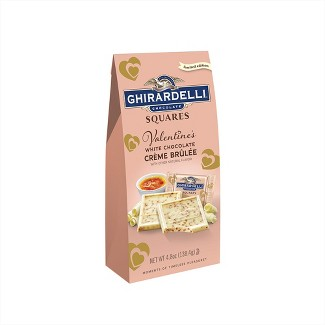 Ghirardelli Valentines Day White Chocolate Crème Brulee Bag - 4.8oz