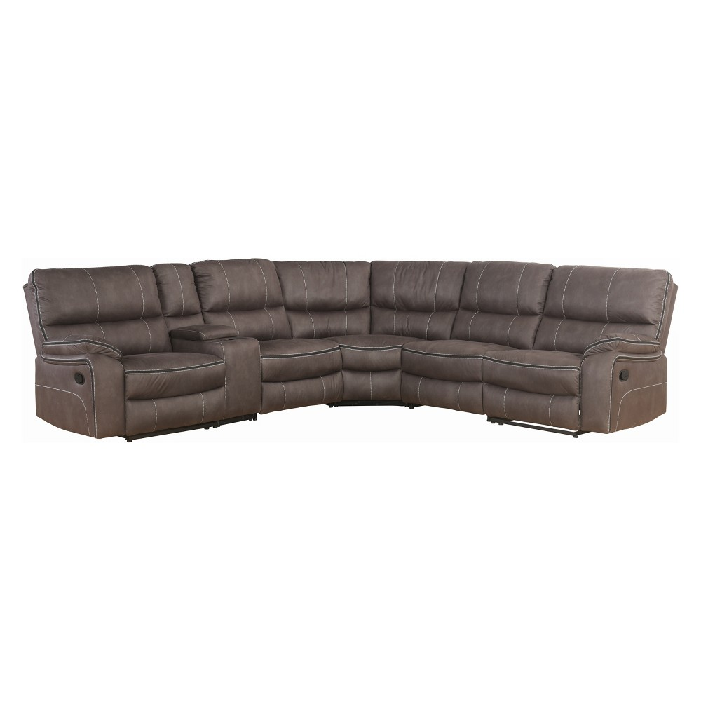 Image of 6pc Carleton Fabric Reclining Sectional Gray - Abbyson Living