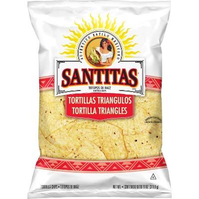 Tortilla & Corn Chips: Santitas White Corn Tortilla Strips