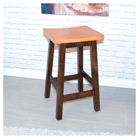 Strange 24 Caileen Copper Top Counter Stool Dark Walnut Carolina Chair And Table Uwap Interior Chair Design Uwaporg