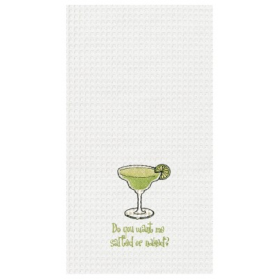 C&F Home Want Me Salted or Naked? Waffle Weave Embroidered Cotton Kitchen Towel