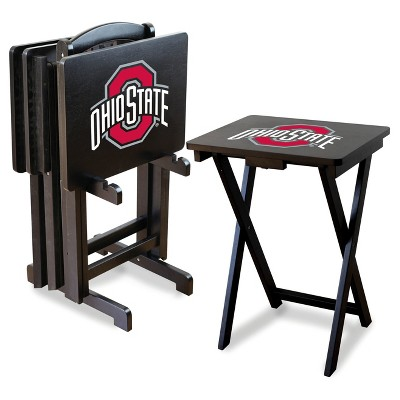 NCAA Imperial TV Trays with Stand -  4pk