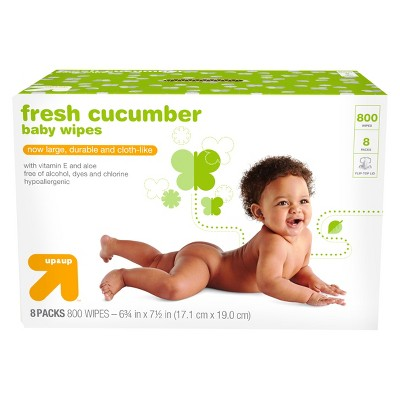 Cucumber Baby Wipes - 800ct - Up&Up™
