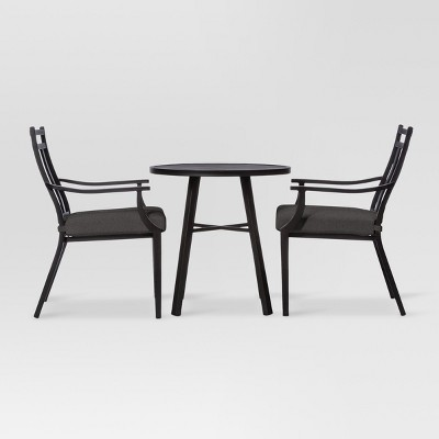 Fairmont 3pc Metal Patio Bistro Set - Charcoal - Threshold™