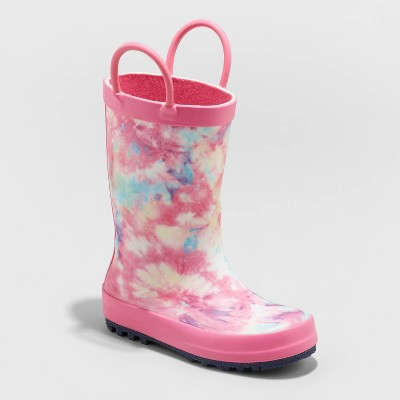 Toddler Girls' Odette Tie-Dye Rain Boots - Cat & Jack™