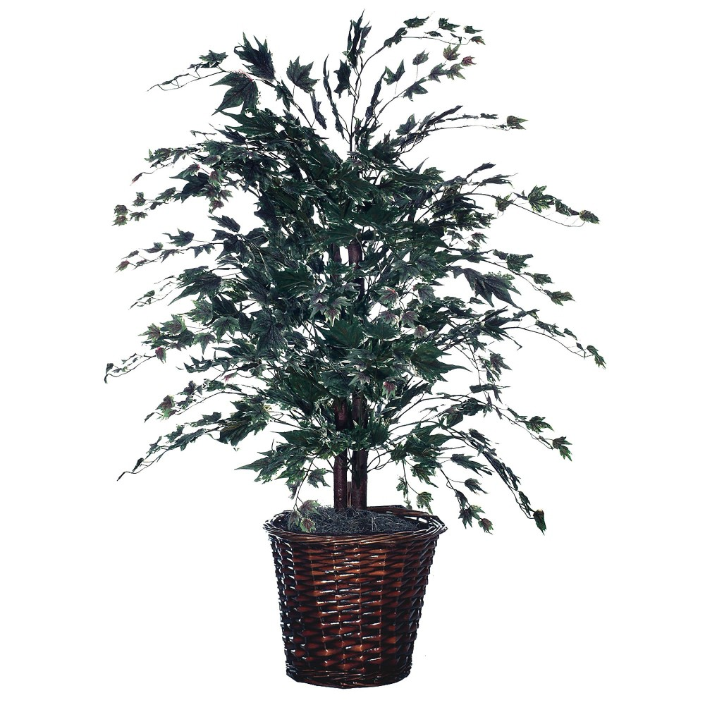Artificial Maple Bush (4), Multi-Colored