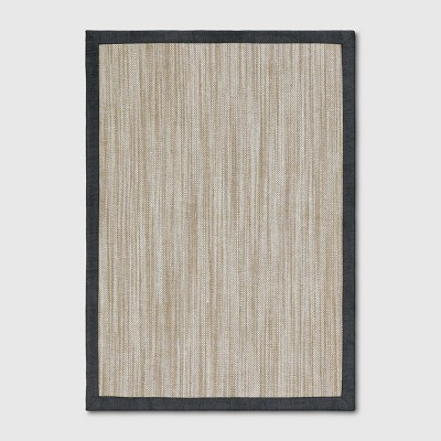 5'x7' Solid Woven Area Rug Charcoal Heather - Threshold™