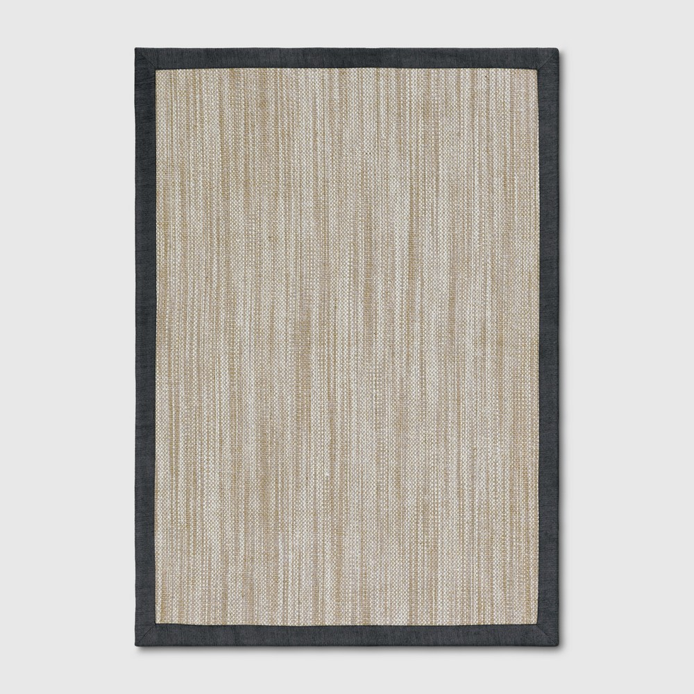 5'x7' Solid Woven Area Rug Charcoal Heather - Threshold