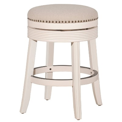 """26"""" Saddle Backless Counter Height Barstool Rustic Gray/Taupe – Hillsdale Furniture"""