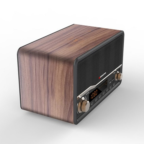 Monster Decora Wood Bluetooth Speaker and Clock Radio - Brown - image 1 of 4
