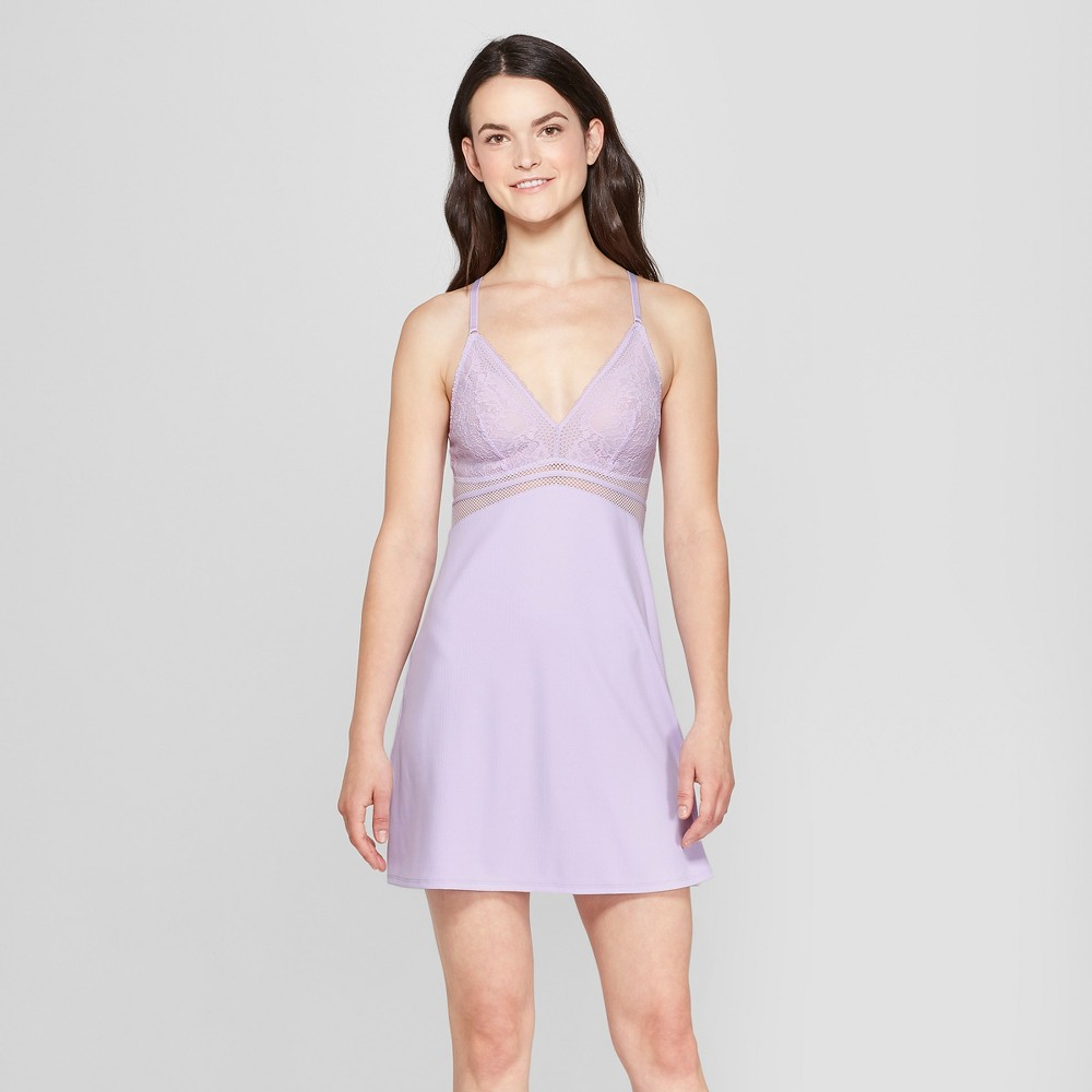 Women's Lightly Lined Chemise Violet Villa S