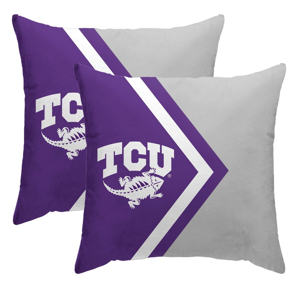 Ncaa Tcu Horned Frogs Side Arrow Poly Span Throw Pillow 2pk