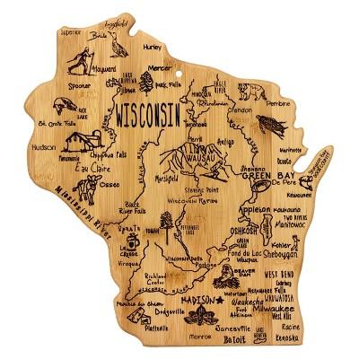 Totally Bamboo Destination Wisconsin Cutting Board 13  x 12