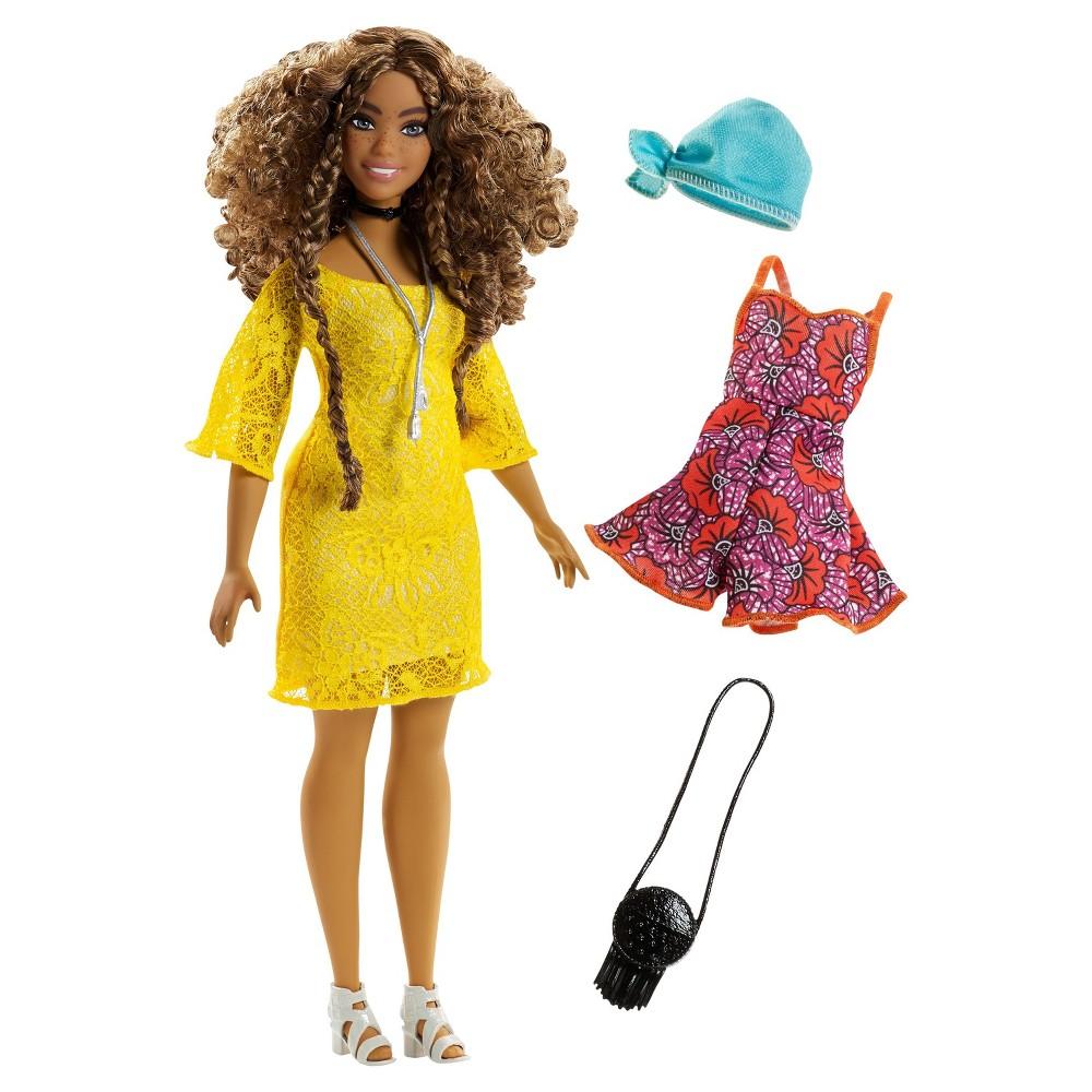 Barbie Fashionistas Curvy Doll and Boho Fashion Giftset