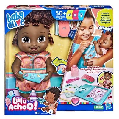 Baby Alive Lulu Achoo Baby Doll - Black Hair