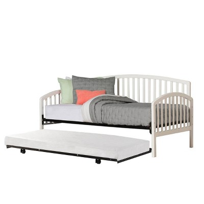 Carolina Daybed with Suspension Deck and Roll-Out Trundle - White (Twin) - Hillsdale Furniture