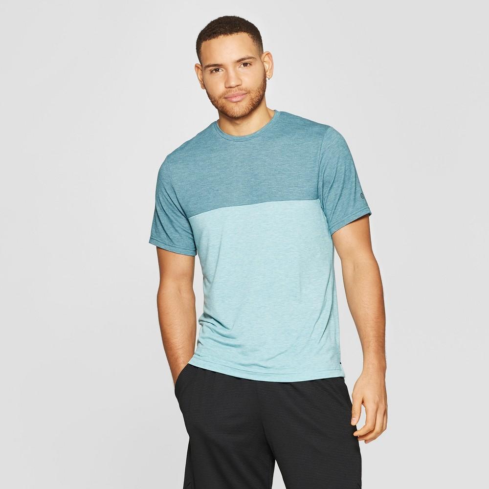 Men's Soft Touch Short Sleeve T-Shirt - C9 Champion Hydroblue Green Heather Xxl