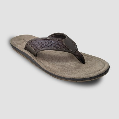 6a5ff0bf2f09 Men s Cecil Flip flop sandals – Goodfellow   Co™ Brown M – Target ...