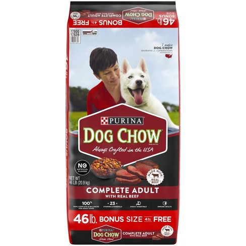 Purina Dog Chow Complete Adult with Real Beef Dry Dog Food 46lbs - image 1 of 4