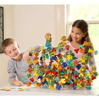 HearthSong - Connectagons 480-Piece Deluxe Building Set for Individual or Collaborative Geometric Art for Kids