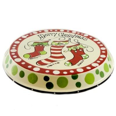 Tabletop Chip And Dip Christmas Plate Cake Plate Burton & Burton  -  Serving Platters