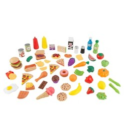 KidKraft 65pc Food Set, play food and toy kitchens
