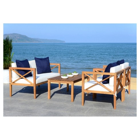 Nunzio 4pc Seating Set - Safavieh - image 1 of 3