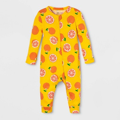 Baby Fruit Union Suit - Yellow 3-6M