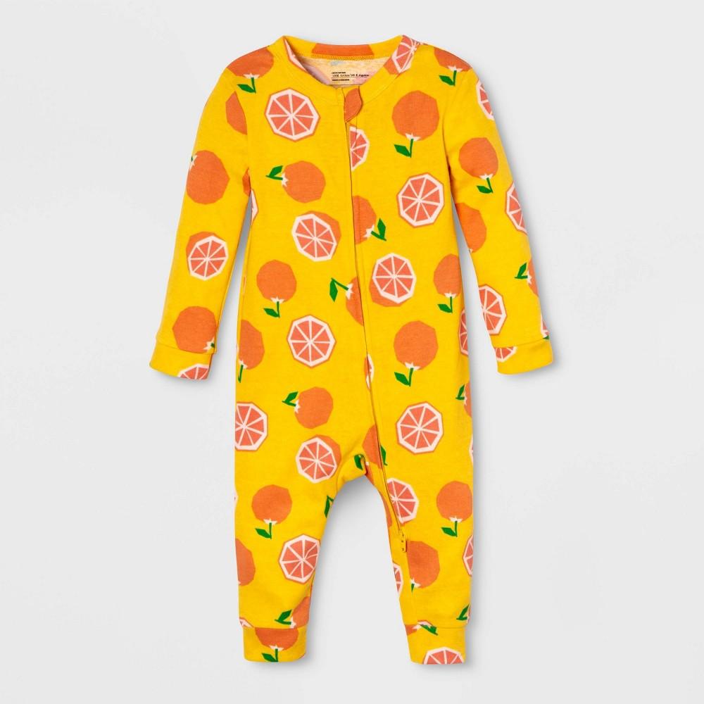 Image of Baby Fruit Union Suit - Yellow 6-9M, Adult Unisex