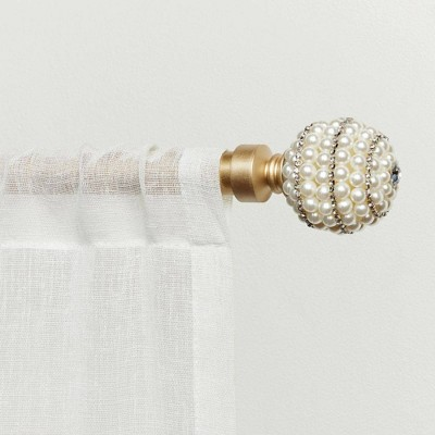 """66""""-120"""" Adjustable Diana Curtain Rod and Finial Set - Exclusive Home"""