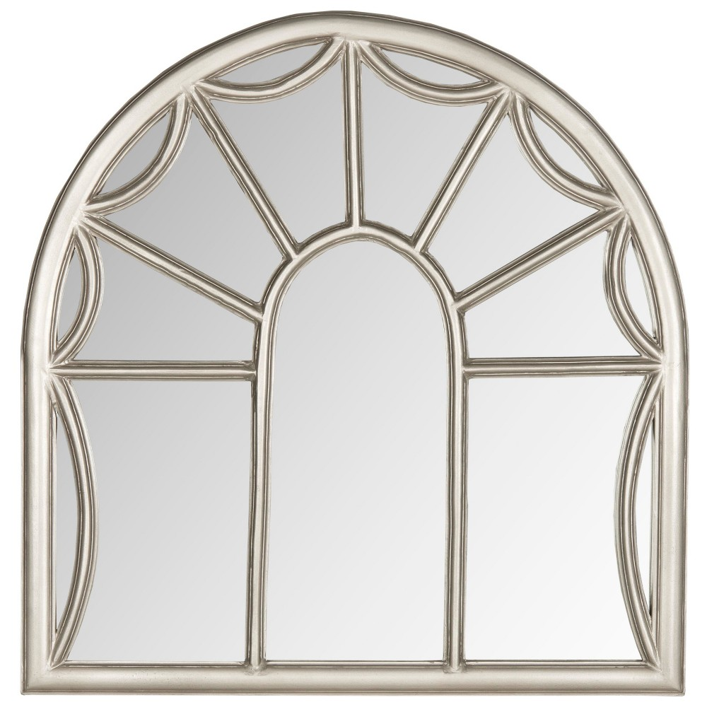 Rectangle Arched Palladian Decorative Wall Mirror Pewter (Silver) - Safavieh