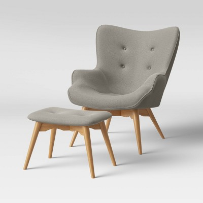 Ducon Modern Tufted Accent Chair with Ottoman - Project 62™