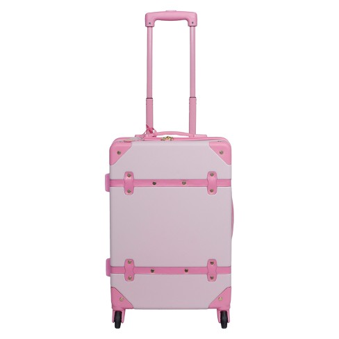 S Carry On Suitcase With Tag Art Class Pink