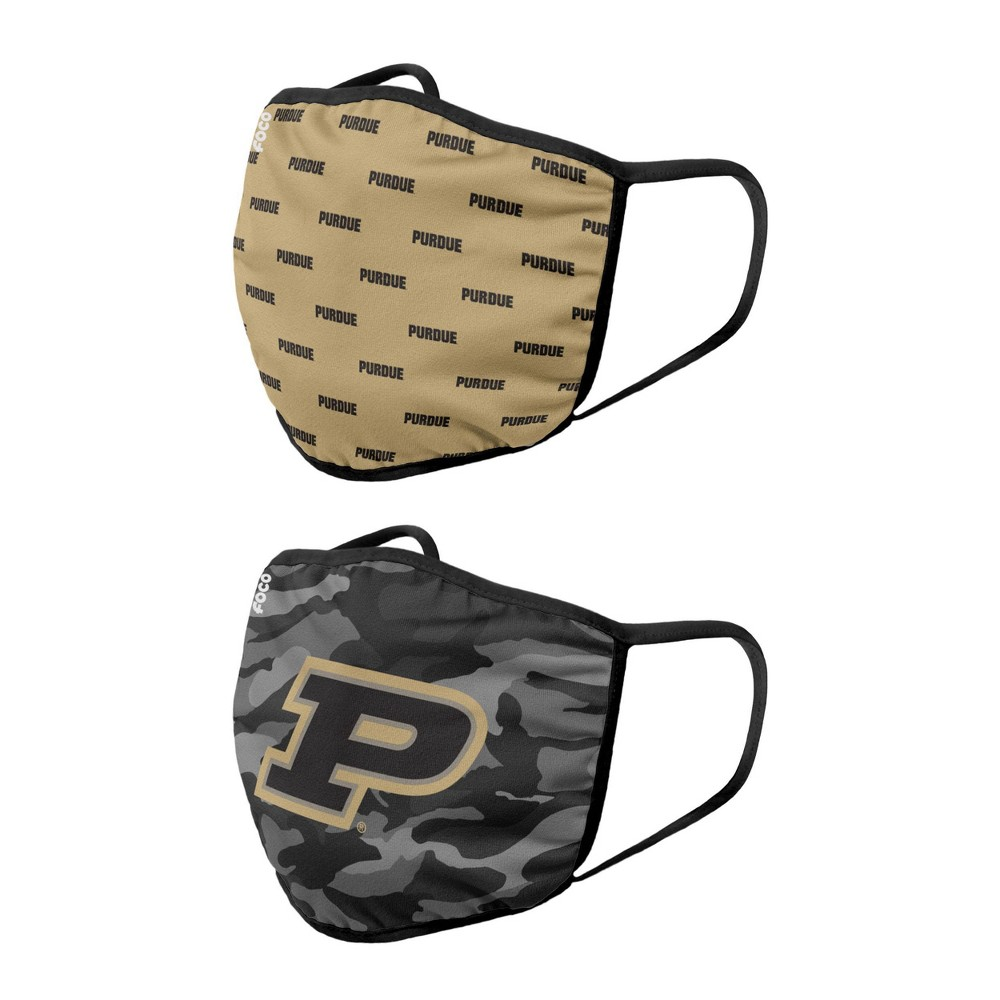 Ncaa Purdue Boilermakers Adult Face Covering 2pk