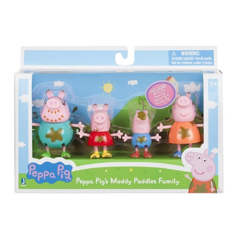 237bd51e1 Peppa Pig® Muddy Puddles Family Figures 4pc : Target