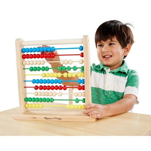 faccfa794fb8 Melissa   Doug® Abacus - Classic Wooden Educational Counting Toy With 100  Beads   Target
