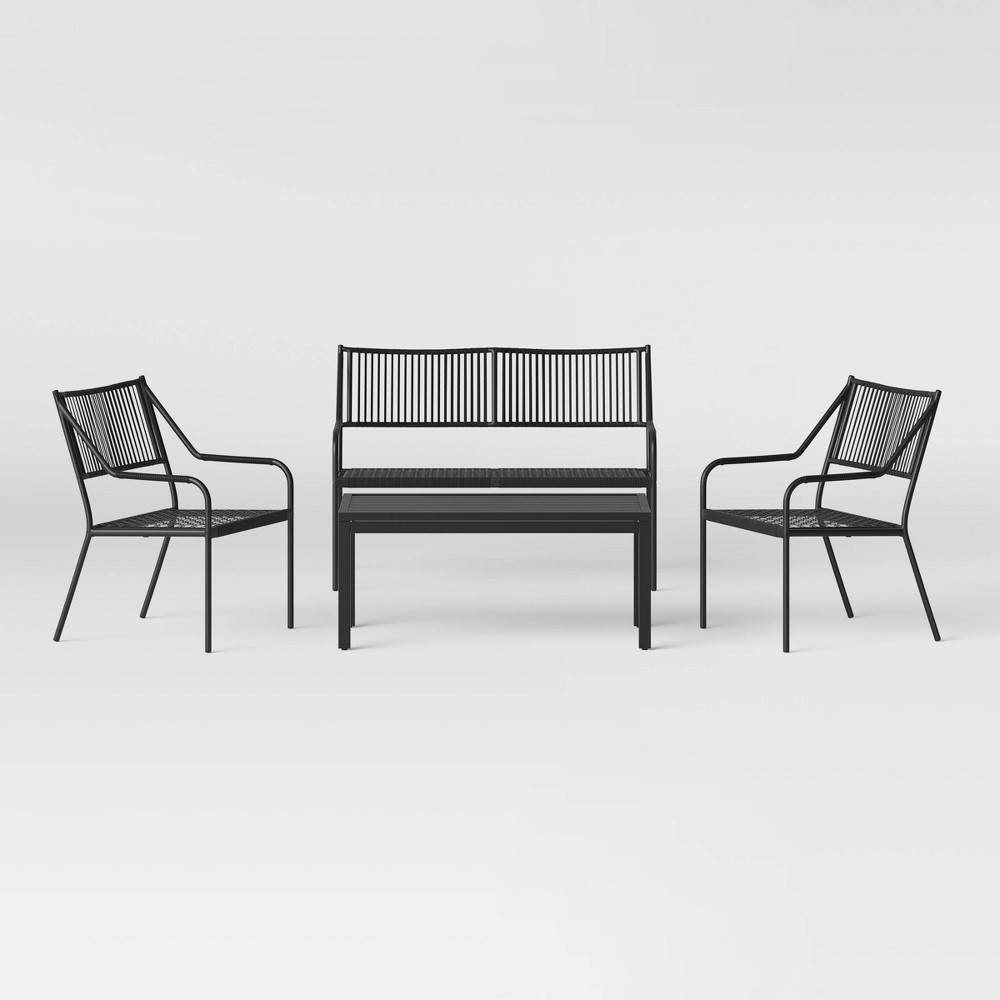 Standish 4pc Patio Conversation Set - Black - Project 62 was $500.0 now $250.0 (50.0% off)