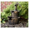 """27"""" Polyresin Water Barrel Fountain - Copper - Backyard Expressions - image 2 of 3"""