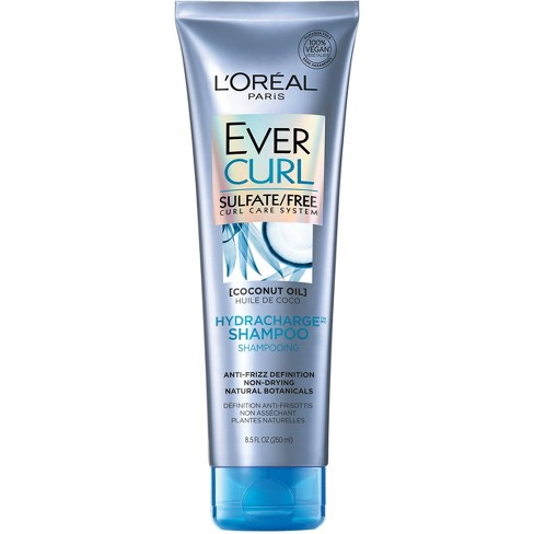 L'Oreal Paris Ever Curl Sulfate-Free Coconut Oil Hydracharge Shampoo - 8.5 fl oz - image 1 of 3