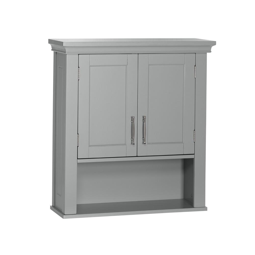 Somerset Collection 2-Door Wall Cabinet Gray - RiverRidge