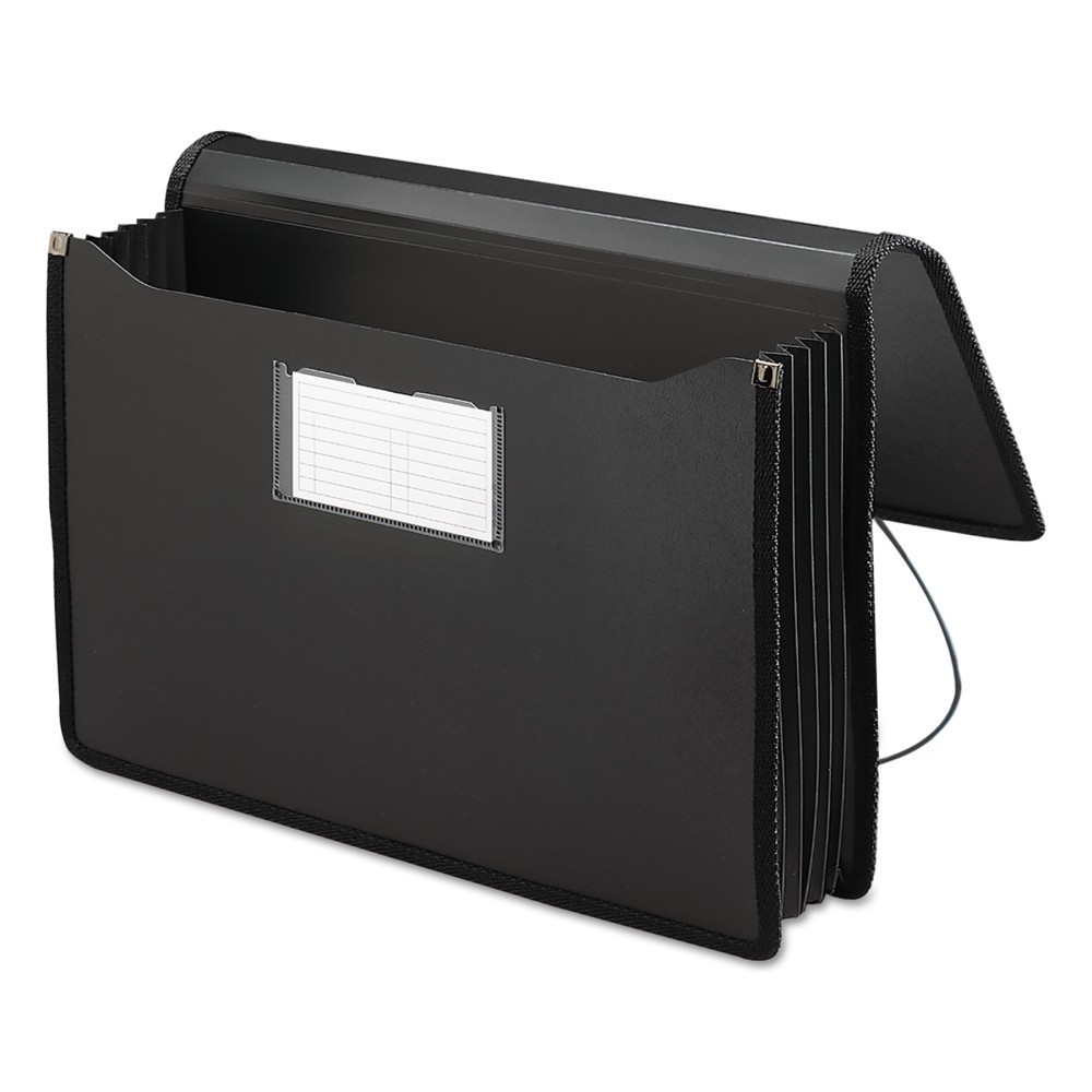 Smead Premium 5 1/4 Inch Accordion Expansion File Folders Wallets, Poly, Legal, Black