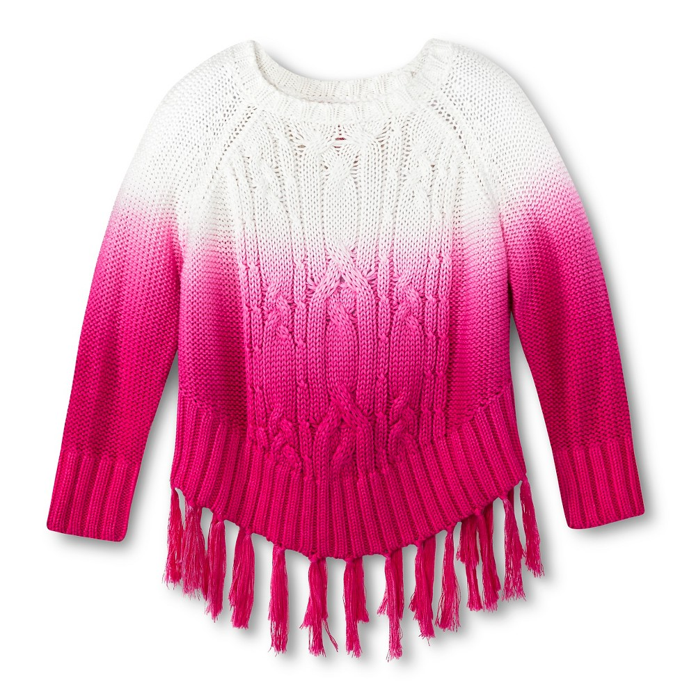Toddler Girls' U-Knit Hombre Sweater - Pink 5T