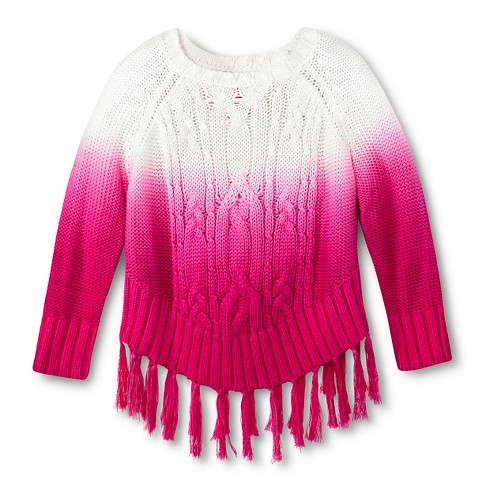 Toddler Girls' U-Knit Hombre Sweater - Pink 2T - image 1 of 1