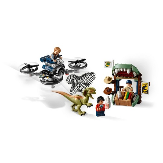 LEGO Jurassic World Dilophosaurus on the Loose 75934 Plane Drone Toy Dinosaur Building Set 168pc image number null