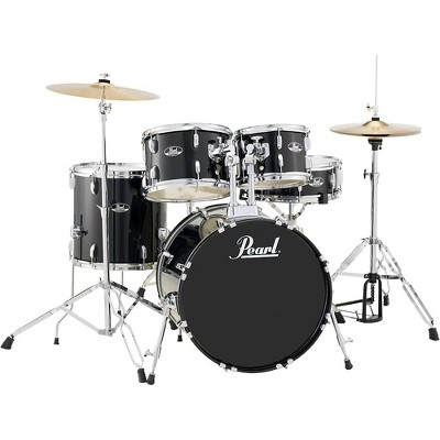 Pearl Roadshow 5-Piece Fusion Drum Set Jet Black
