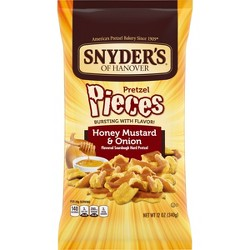 Snyder's Of Hanover Pretzels -pc Honey Mustard And Onion 12oz