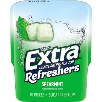Extra Refreshers Spearmint Gum 40-Piece Bottle
