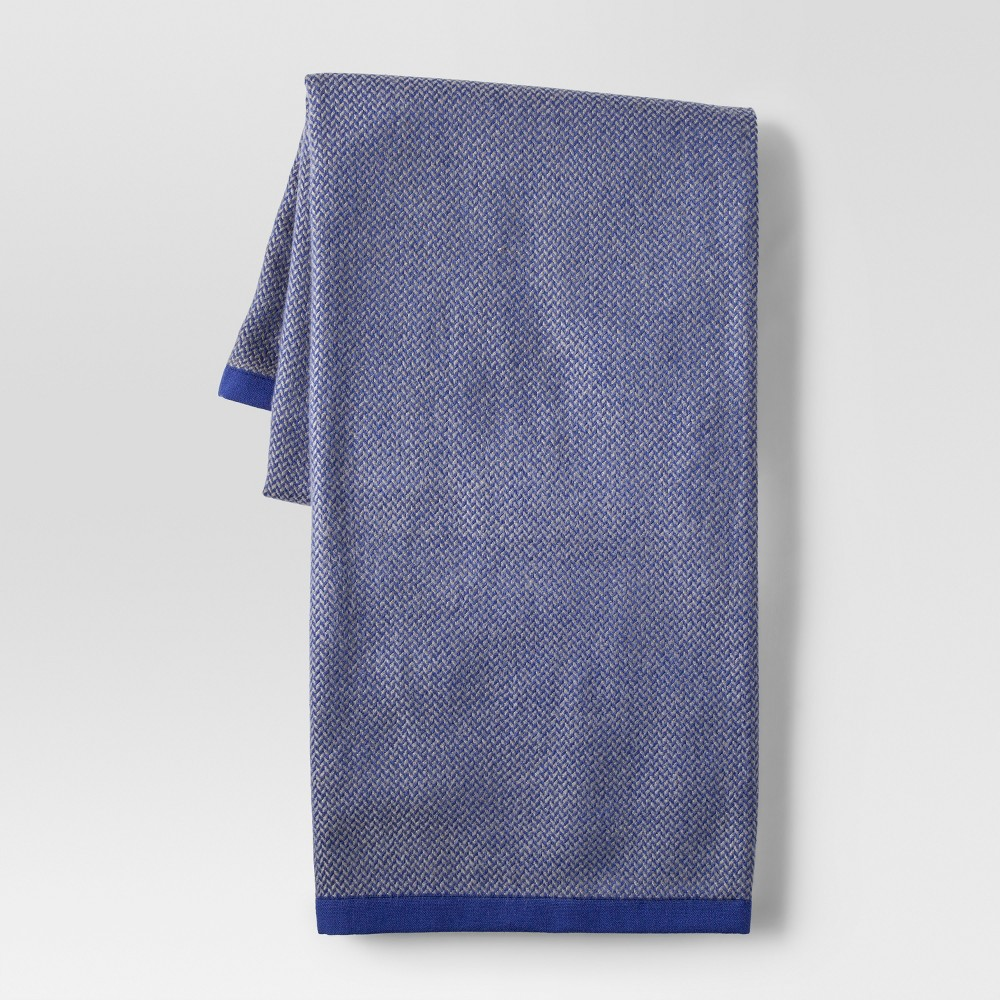 Herringbone Blue Throw Blanket - Project 62
